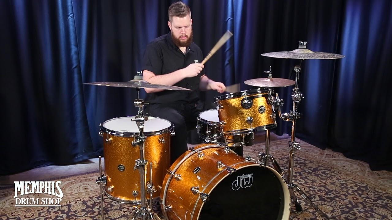 dw performance series maple drum set 22 12 16 gold sparkle youtube. Black Bedroom Furniture Sets. Home Design Ideas