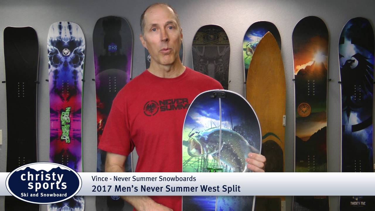 c6136094705 2017 Never Summer West Split Men s Snowboard Review - Christy Sports ...