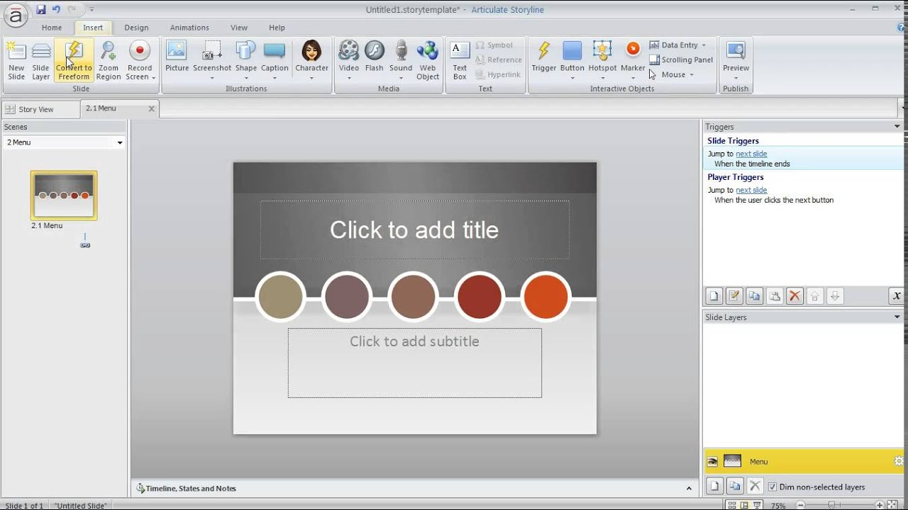 Articulate Storyline tutorial: Creating and using slide templates ...