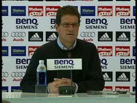 Realmadrid Capello rueda de prensa antes del RM Mallorca
