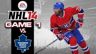 Let's Play NHL 14 - Game 1 vs Toronto Maple Leafs - Coming Out Swinging!