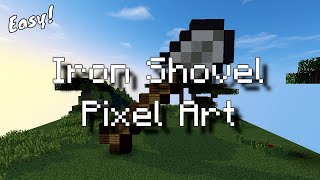 Minecraft Pixel Art - Iron Shovel