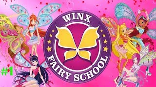 винкс Школа Волшебниц #1 Знакомство с школой Алфея и первые задания Детское игровое видео