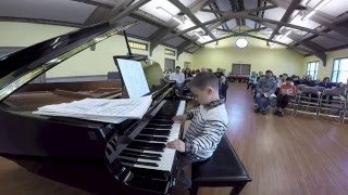 6 Year Old plays YES (cover) South Side of the Sky
