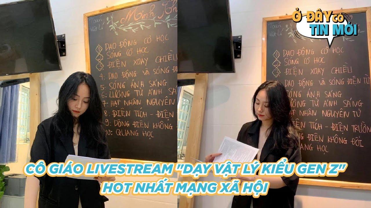 """Cô Giáo Livestream """"Dạy Vật Lý Kiểu Gen Z"""", Vừa Cool Lại Xinh Như Idol Hot Nhất Mạng Xã Hội! #Shorts"""