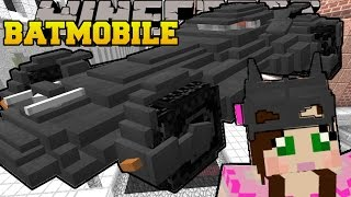 Minecraft: THE BATMOBILE (DRIVE THE COOLEST CAR EVER!) Custom Command