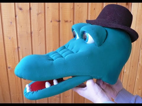 Крокодил Гена. Как сделать маску из поролона.