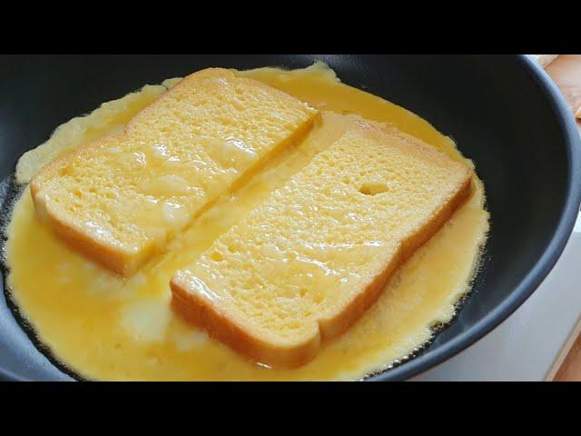[초간단] 원팬토스트 만들기 | How to make one pan egg toast | 메리니즈부엌