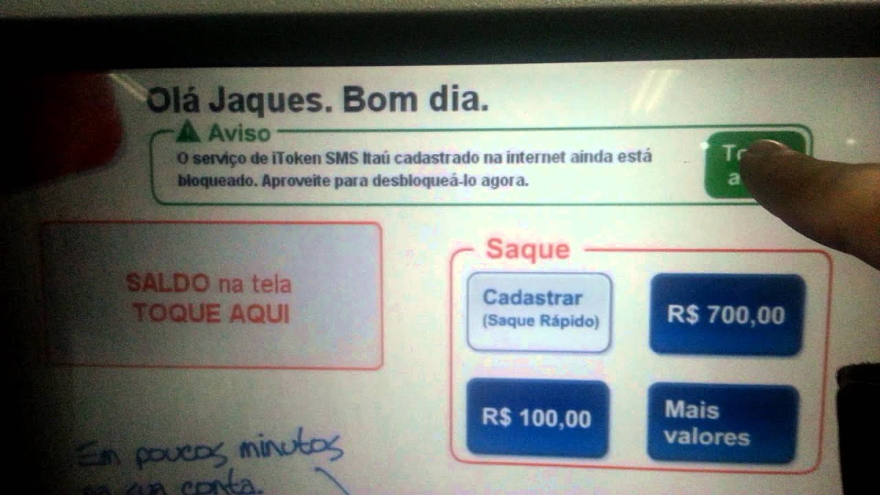 Falha no sistema de itoken sms do banco ita youtube for Banco itau