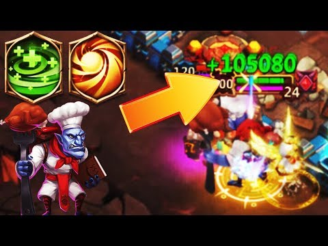 Wallawalla | 105K Heals | 8 SACRED LIGHT + 7 REGENERATE | CASTLE CLASH