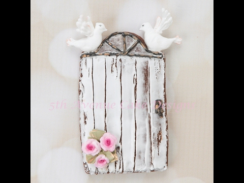 How to Create a Rustic Door with Wood Grain Royal Icing Cookie
