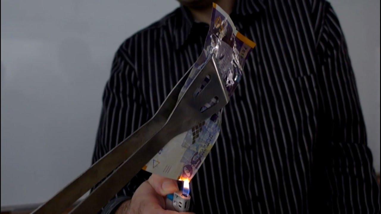 ניסוי הסנה הבוער - איך לגרום לנייר לבעור -- בלי שישרף?