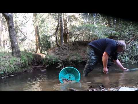 Gold Magic 10m Spiral Panning Wheel Working It's Way Up The Creek
