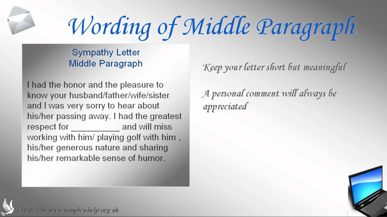 Sympathy Letter   Youtube