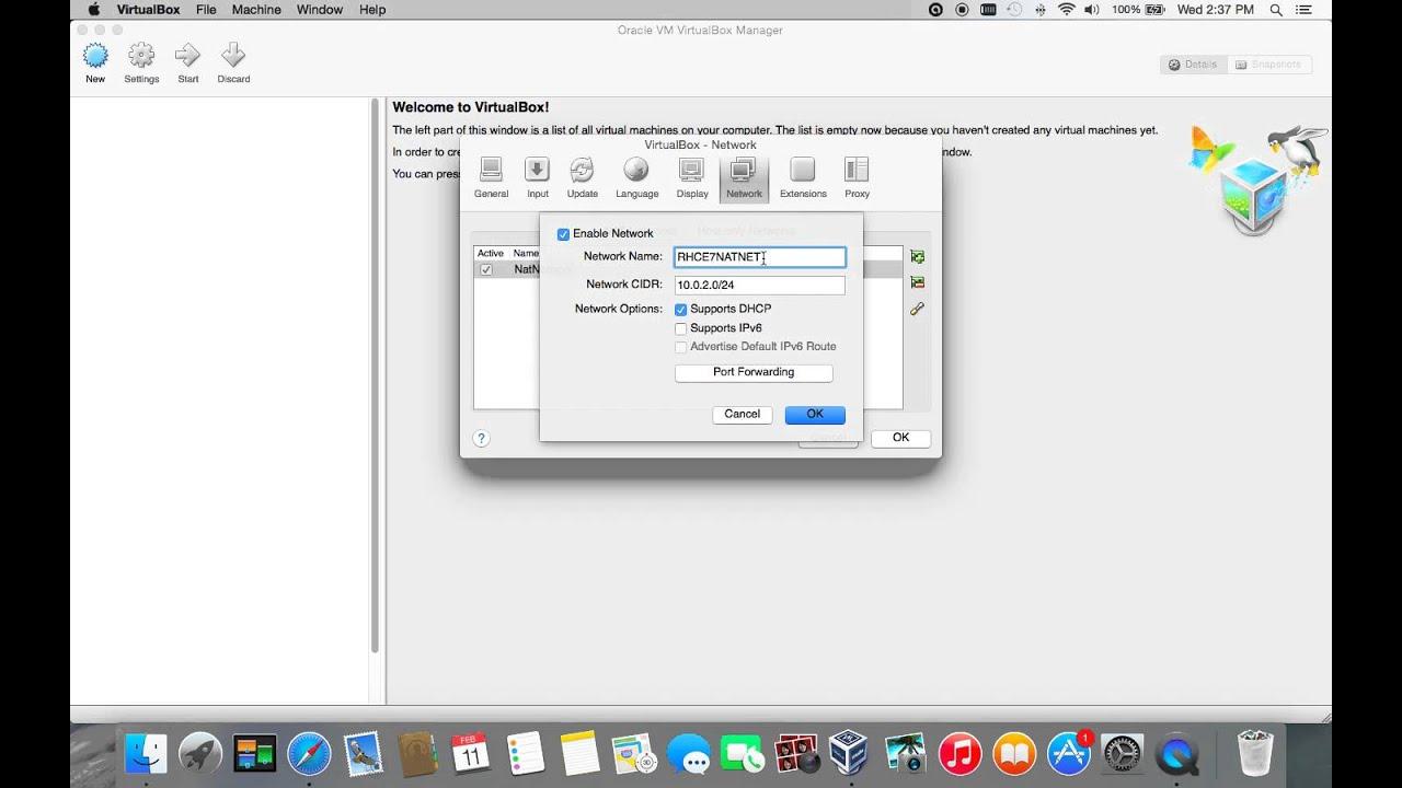 VirtualBox: Add NAT Network