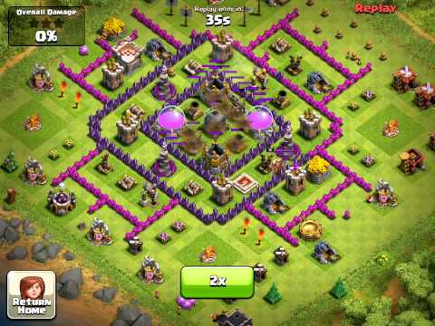 Clash of clans townhall 7 best base design layout for farming