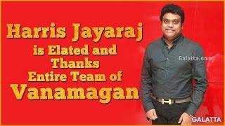 Harris Jayaraj is Elated and Thanks Entire Team of Vanamagan