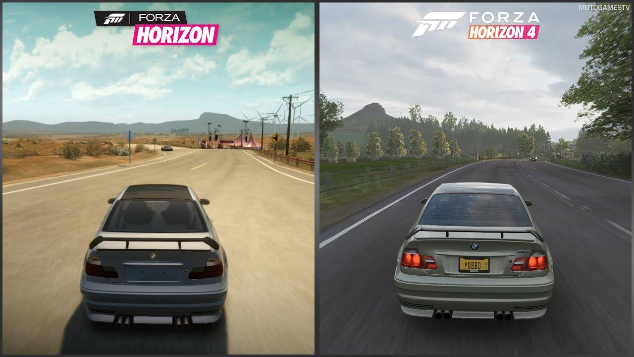 Forza Horizon vs Forza Horizon 4 - 2002 BMW M3-GTR Sound Comparison