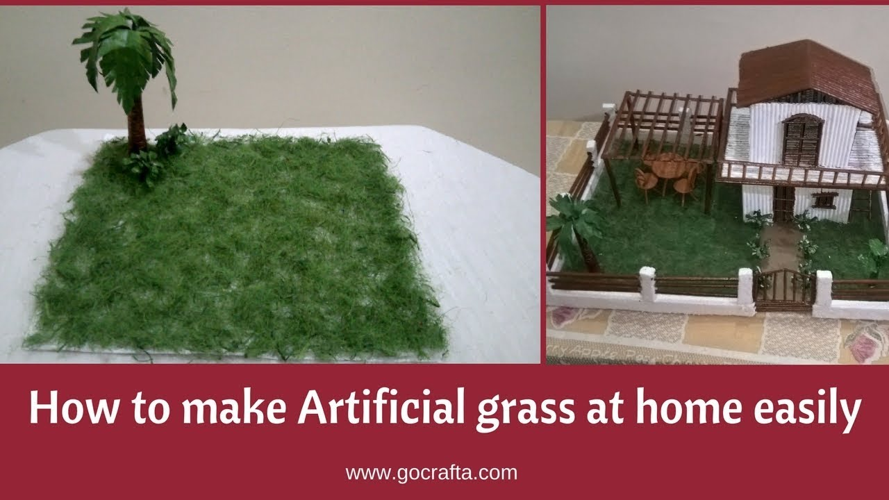 How to make artificial grass at home easily fake grass for How to make craft