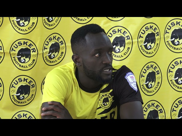 Tusker FC training Ups Robert Matano coach and Captain Eugine Asike