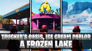 Use Keep It Mello at a Trucker's Oasis, Ice Cream Parlor and a Frozen Lake (Fortnite All Locations)
