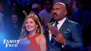Kathryn CONQUERS Fast Money!   Family Feud