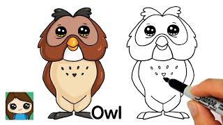 How to Draw Owl Winnie the Pooh