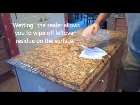 How to properly seal granite countertops youtube how to properly seal granite countertops tyukafo