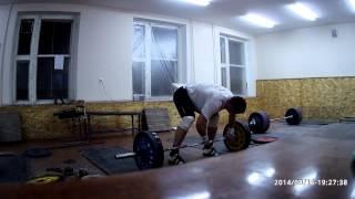 Тяжелая атлетика - рывок с виса выше колен  90кг х 3 повт.