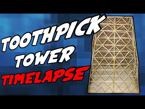 Toothpick Tower Time-lapse | Moreland Middle School | Science Expo 2020 | Guide