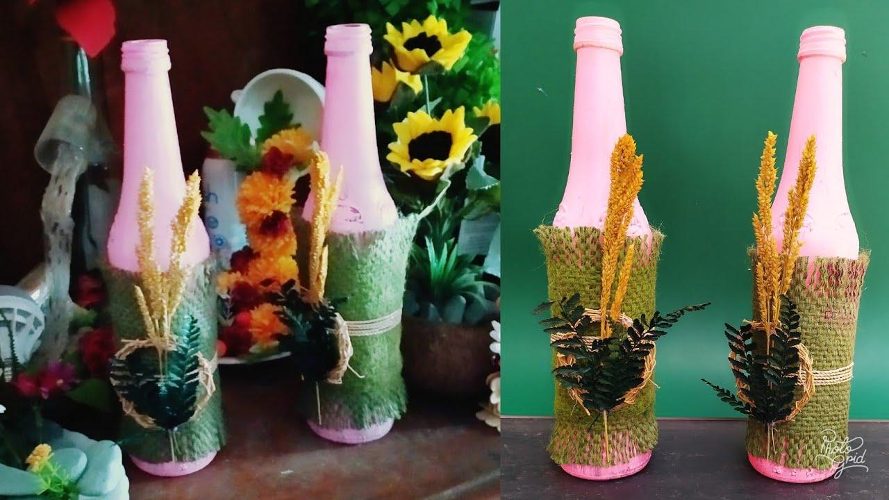 Cara Membuat Hiasan Dari Botol Bekas Sirup Dengan Mudah Dan Cantik Youtube