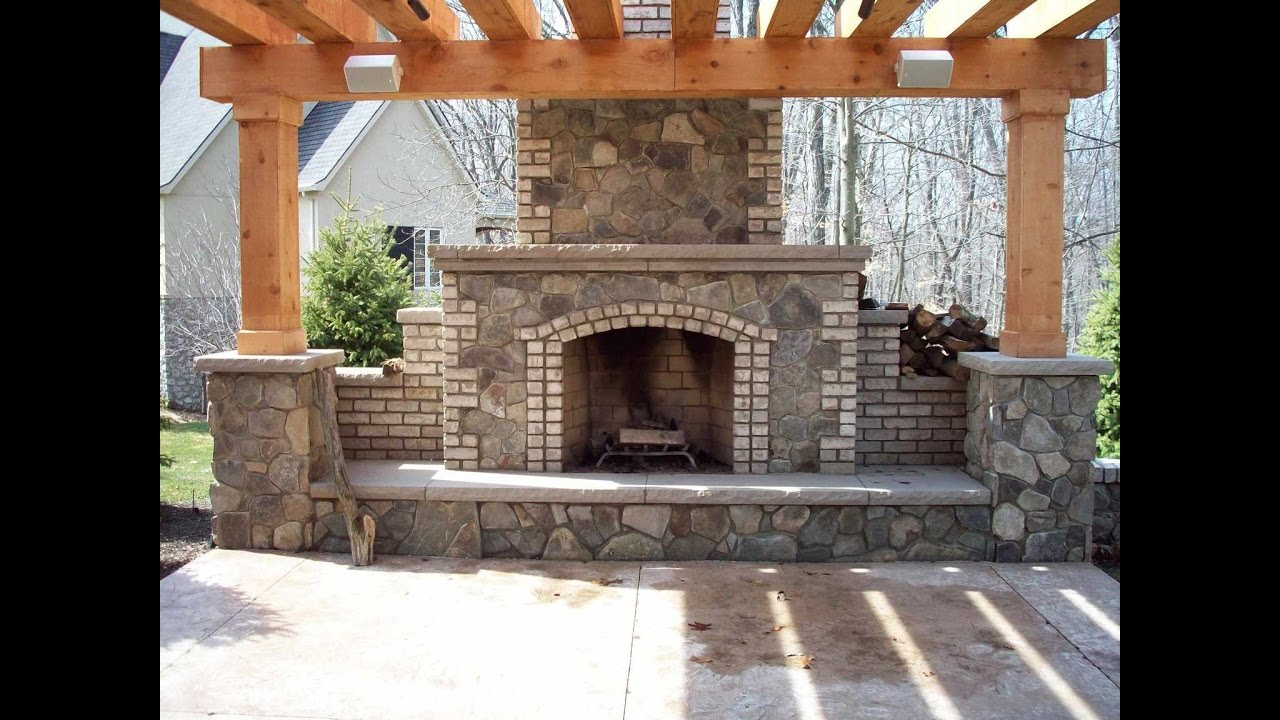 Fireplaces With Pergola - YouTube