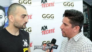 "VANES MATIROSYAN ""NO ONE HAS THE GUTS TO STAND IN FRONT OF GGG & LAND PUNCHES! IM GONNA DO THAT"""