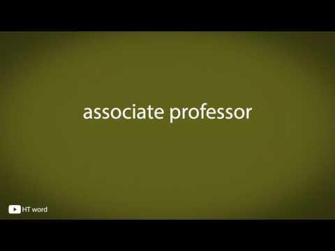 How to pronounce associate professor