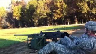 SPC. Bason M2 .50 cal range Fort Campbell