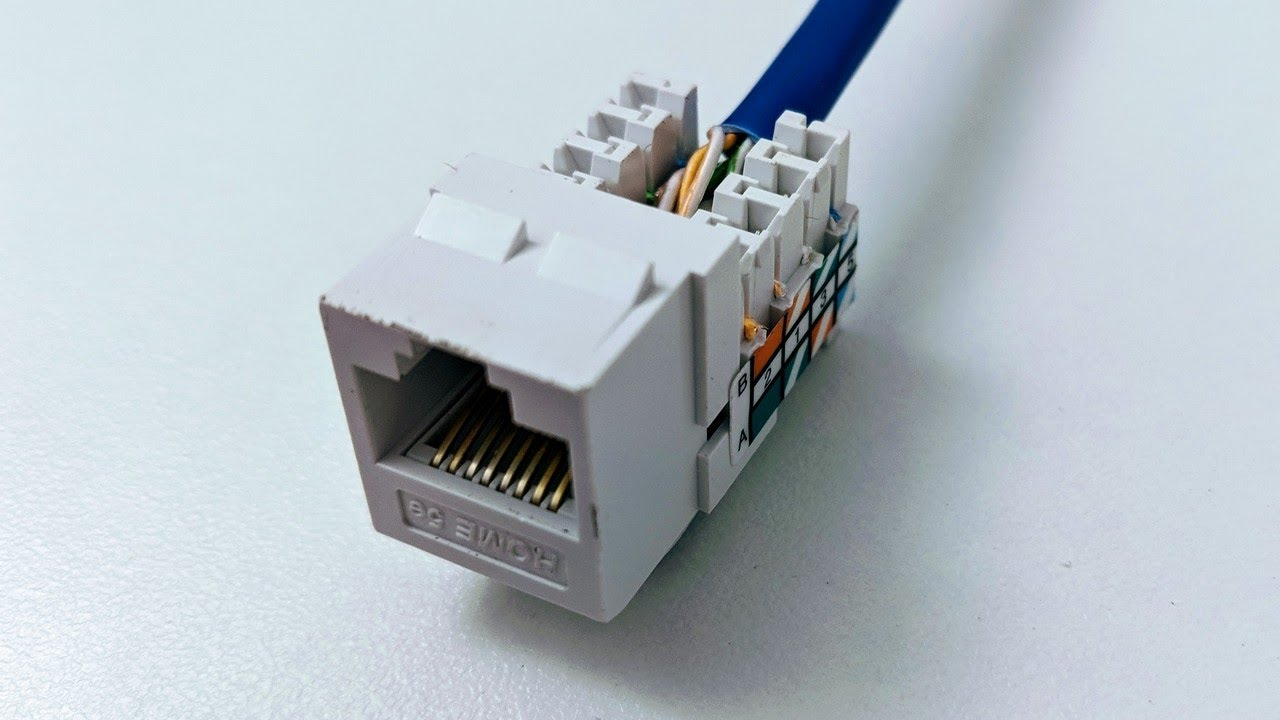 [SCHEMATICS_44OR]  Connect Cat6 cable to jack - YouTube | To Rj45 Connector Cat6 Wiring Diagram |  | YouTube