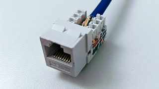 Connect Cat6 cable to jack