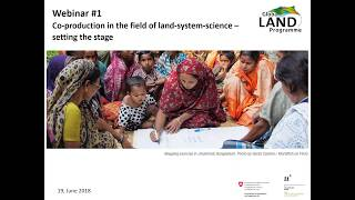 WEBINAR: Co-production in the field of land-system science - setting the stage