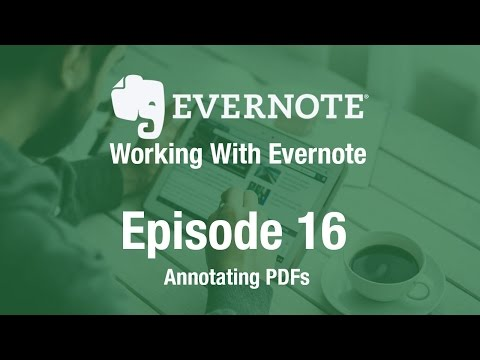 Working With Evernote | Ep 16 | Annotating PDFs