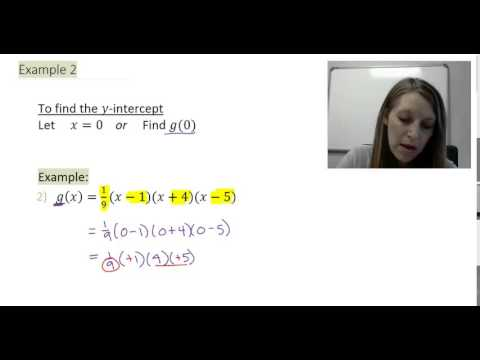 how to find the y intercept of a polynomial function