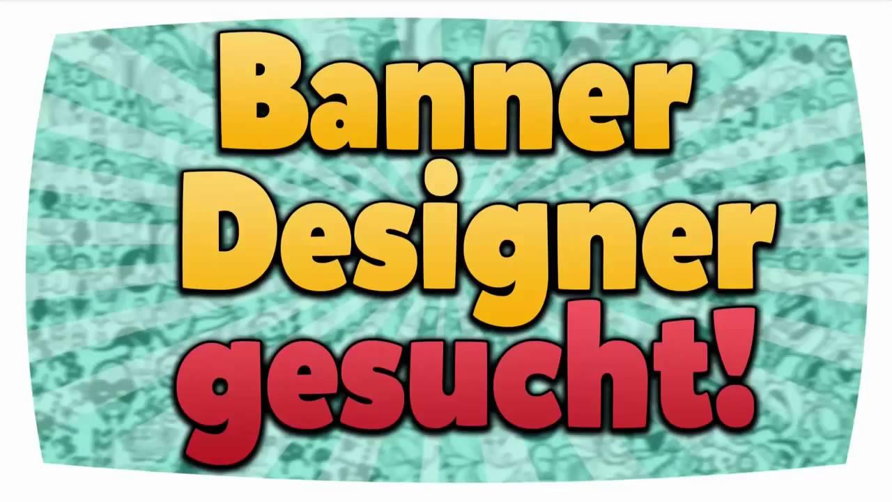 banner designer gesucht youtube