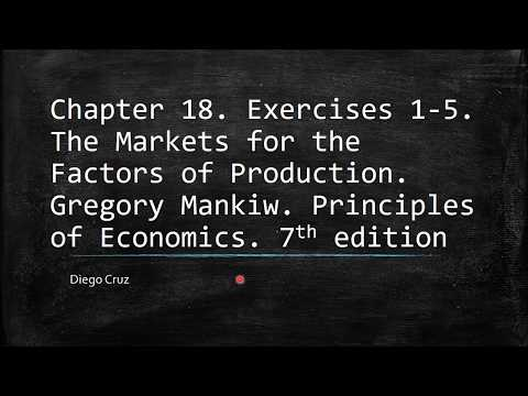 Chapter 18  1-5. The Markets for the Factors of Production. Principles of Economics