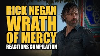 The Walking Dead RICK NEGAN WRATH OF MERCY Reactions Compilation
