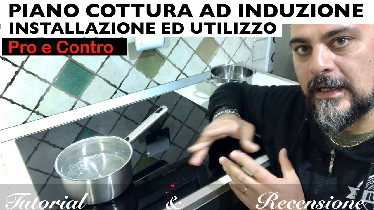 Piano Cottura Induzione Non Funziona induction hob. bosch. how it works and how to install it yourself in three  minutes. cooker hood