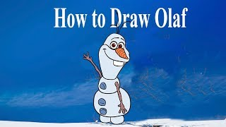 How to draw Olaf  Frozen, draw characters of cartoons, #Howtodraw, #PencilTV