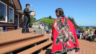 Haida Song and Dance Performance Queen Charlotte Islands, BC