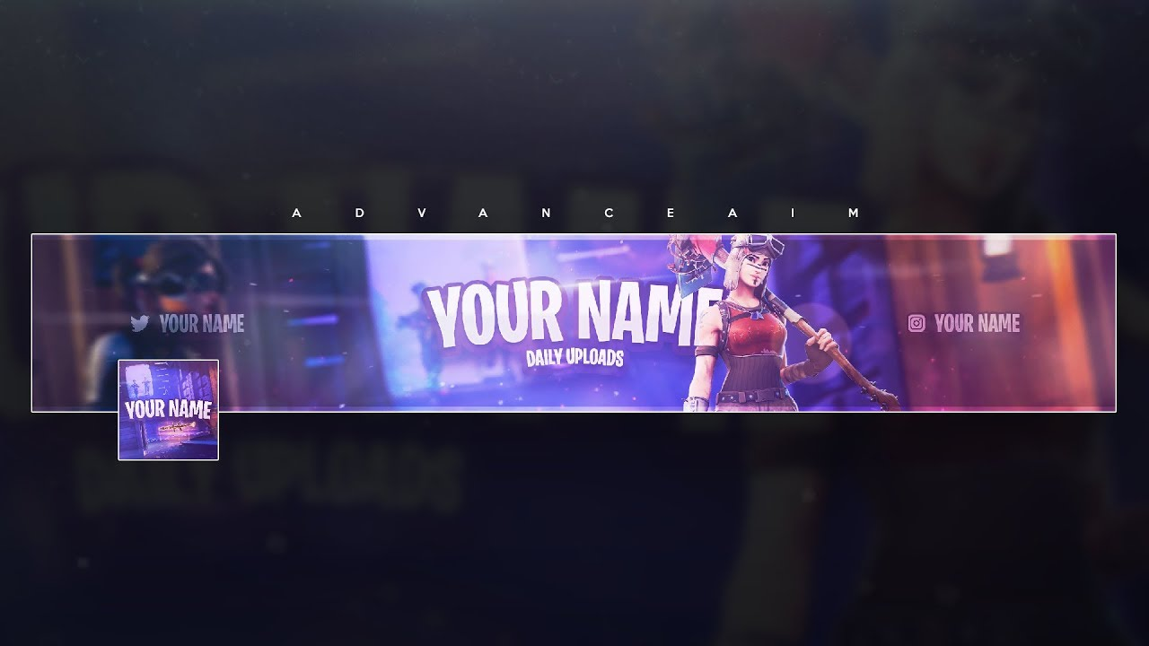 Fortnite Banner Template Free Tutorial