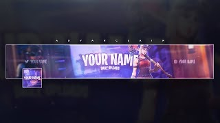 Fortnite Banner Template (Free) + Tutorial