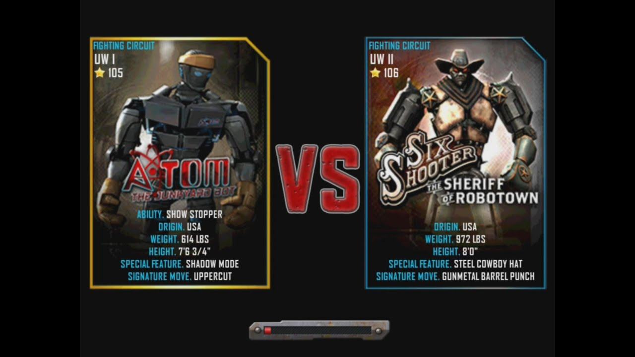 Real Steel WRB Atom VS Six Shooter NEW graphics blows ...