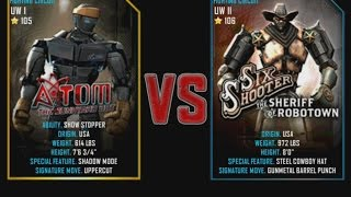 Real Steel WRB Atom VS Six Shooter NEW graphics blows